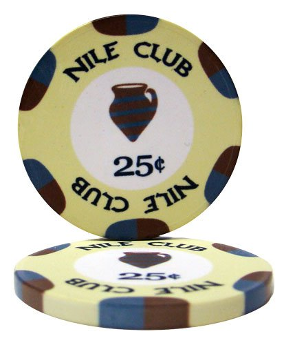 50 Nile Club .25¢ (Cent) Poker Chips