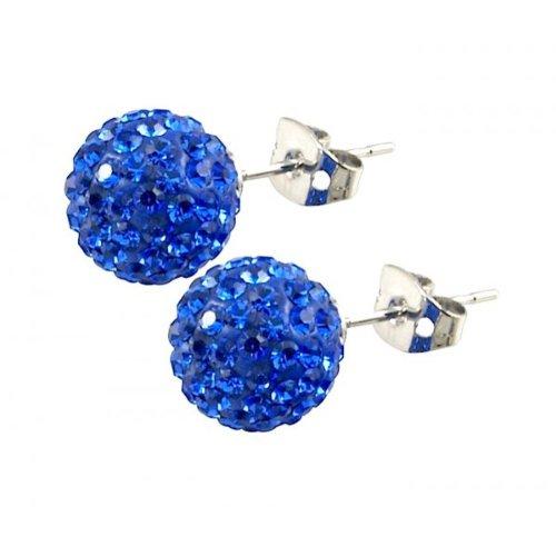 Tresor Paris 'Rabodanges' Blue Crystal Earrings,10mm