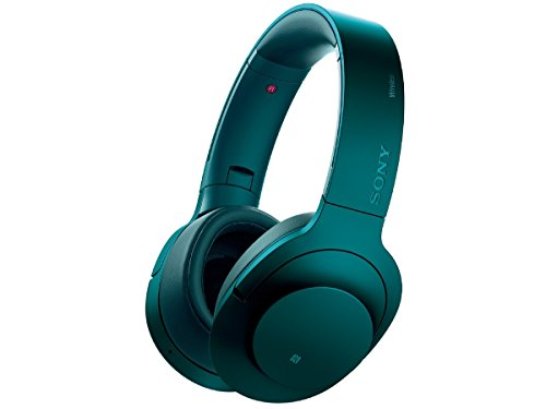 Sony H.ear on Wireless NC Headphone, Viridian Blue (MDR100ABN/L)