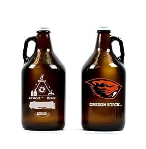 Buy NCAA Oregon State Beavers 64oz Glass Growler by Keyscaper