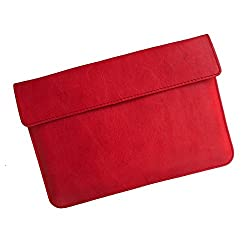 i-KitPit : PU Leather Pouch Case For iBall Slide i6012 (RED)