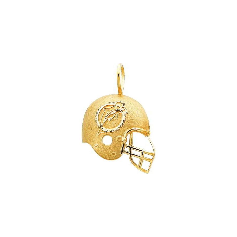 14K Gold NFL Miami Dolphins Football Helmet Charm