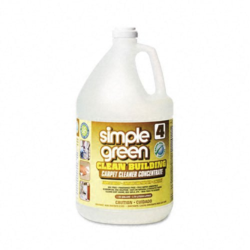 simple green Products - simple green - Clean Building Carpet Cleaner Concentrate, Unscented, 1 gal. Bottle - Sold As 1 Each - Cleans soft, porous carpet fibers without leaving behind residue. - Will not harm carpet backing or degrade carpet fibers. - Green Seal Certified; environmentally preferred product. - Approved by Carpet and Rug Institute; safe for use on carpets in pre-spray and extraction cleaning. - Dilutes with water.