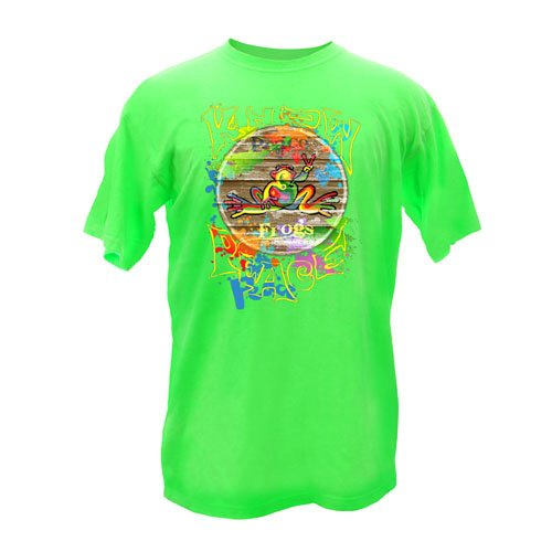 Peace Frogs Adult Retro Knows Peace Frog Garment Dye Short Sleeve T-Shirt front-1056547