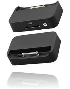 Dock / Tischladestation für Apple iPhone 4/4G, schwarz, mit USB-Datenkabel