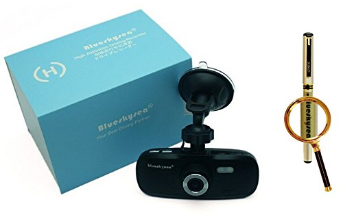 Blueskysea Free Gift Gel Pen + G1W-C G1W Pro Full Hd 1080P H.264 Capacitor Model - No Battery Car Dvr Camera Recorder Dashboard Dashcam   Black Box Video Recorder   Authentic Nt96550 + Ar0330 (G1W-C Camera)