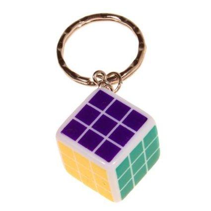 Brain Teaser 3x3x3 Cm Mini Magic Cube Keychain - 1
