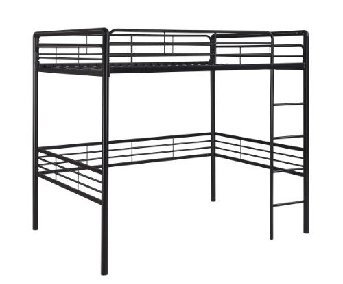 Dorel Home Products Full Loft Bed, Black (Loft Beds Full compare prices)