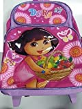 Large Rolling Backpack - Dora the Explorer - Dity Daisy New School Bag 629632