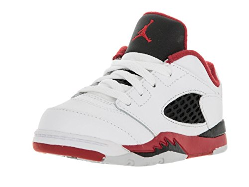 Nike Jordan Toddlers Jordan 5 Retro Low (TD) White/Fire Red/Black Basketball Shoe 8 Infants US