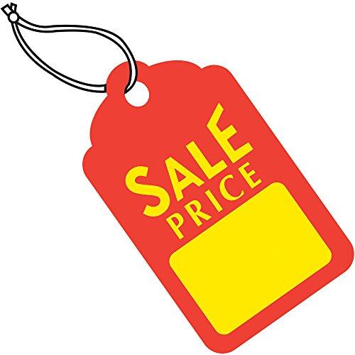 Aviditi G26006 Sale Price Tags Pre-Strung, 1 11/16