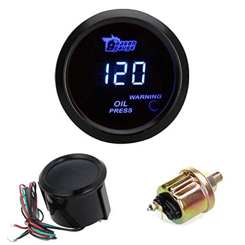 kerrone (TM) Auto Auto Motor Universal Digital Öl Gauge Druck Messgerät mit Sensor 52mm 2in LCD-Anzeige 0~ 120psi Warnlicht Schwarz jetzt kaufen