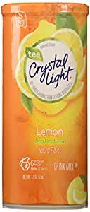Crystal Light Decaf Iced Tea Drink Mix, Natural Lemon Flavor (12-Quart), 1.5-Ounce Packages (Pack of 4)