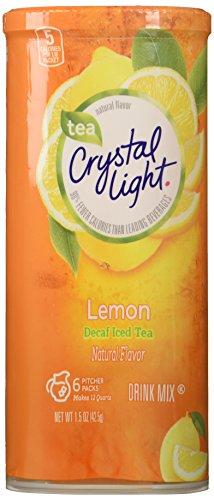 Crystal Light Decaf Iced Tea Drink Mix, Natural Lemon Flavor (12-Quart), 1.5-Ounce Packages (Pack of 4) (Crystal Light Tea Lemon compare prices)