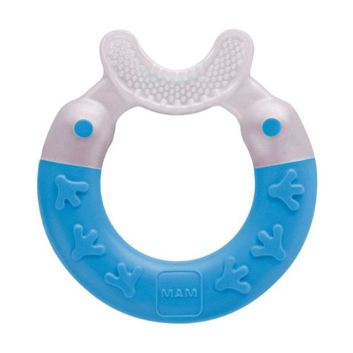 Mam Bite & Brush Teether With Soft Bristles 3+ Months Blue - 1