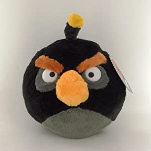 Angry Birds Peluche Black Bird 20 cm