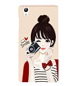 Vizagbeats Girl with Camera Back Case Cover for Vivo Y51 L