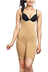 Adorna Slimmer Body Suit - Beige Ladies Shapewear