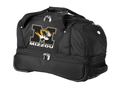 missouri-tigers-denco-22-inch-drop-bottom-rolling-duffel-luggage-black