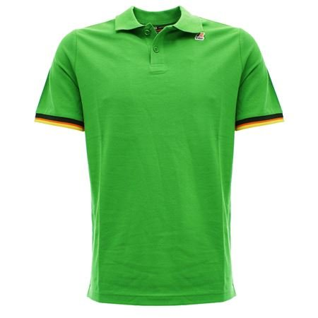 VINCENT cont B21 kelly green Polo da uomo slim fit colore verde acceso Verde acceso L