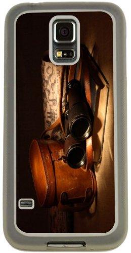 Rikki Knighttm Vintage Old Binoculars With Bag Design Samsung® Galaxy S5 Case Cover (Clear Rubber With Bumper Protection) For Samsung Galaxy S5 I9600