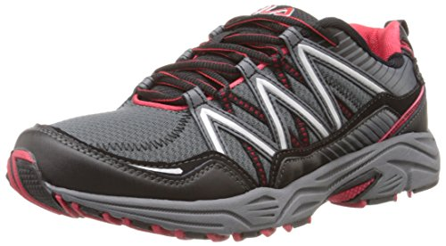 Fila Men's Headway 6 Running Shoe, Castlerock/Black/Fila Red, 10.5 M US