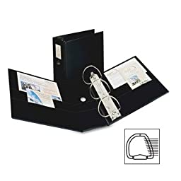 Avery® Durable Slant Ring Locking Reference Binder w/Label Holder, 5in Cap, Black