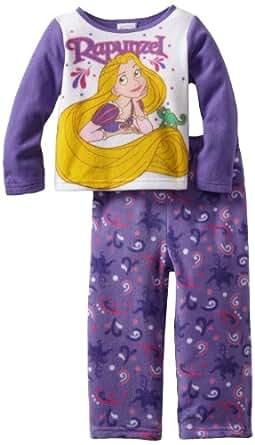 Rapunzel Girls' 2-Piece Pajama Set, Blue, 2T