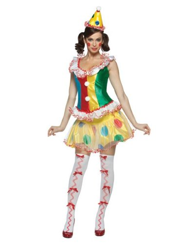 Ruffles The Party Clown Female Circus Girl Lady Costume Adult