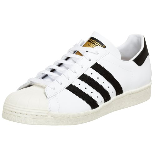 adidas Originals Men's Superstar 80s Sneaker,White/Black/Chalk,8 M
