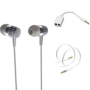TrendyIndia Combo Accessory Handsfree With Handsfree Splitter, Aux Cable For SAMSUNG Galaxy S5