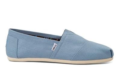 Toms Mens Classics Shoe Dusk Blue Canvas Size 9.5