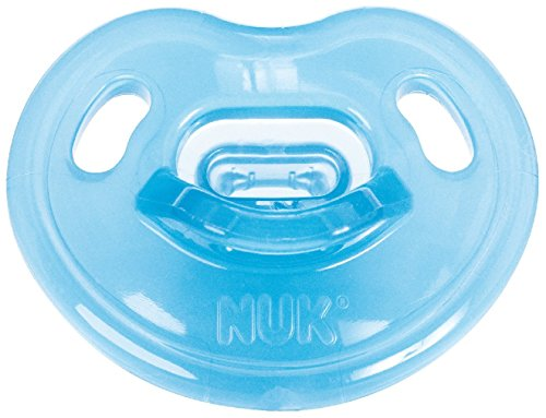 NUK Newborn 100% Silicone Boy Orthodontic Pacifier in Assorted Colors and Styles, 0-3 Months