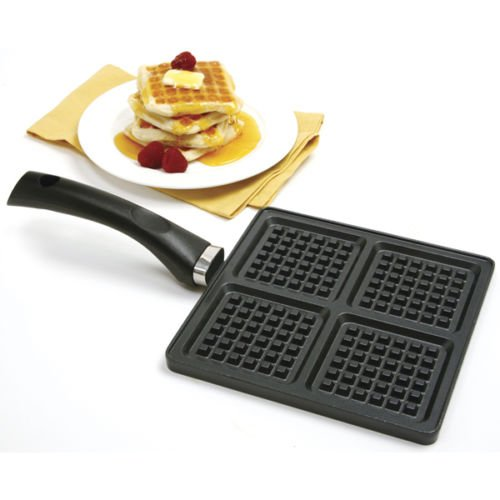 Norpro 603 Nonstick Cast Aluminum Mini Waffle Pancake Pan Griddle
