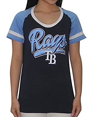 TAMPA BAY RAYS Womens MLB Short Sleeve Glitter T-Shirt