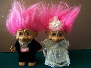 BRIDE AND GROOM Troll Dolls