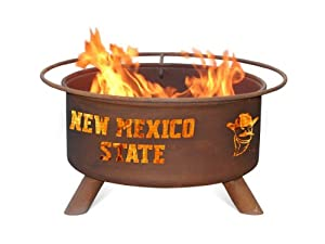 New Mexico State Aggies Portable Steel Fire Pit Grill by Patina