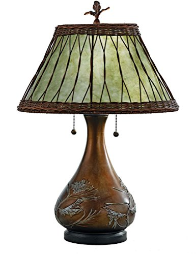 Quoizel MC120T, Mica Small Table Lamp, 2 Light (Small Stained Glass Lamp Shade compare prices)