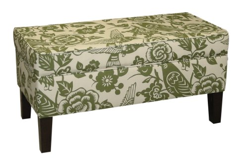 Skyline Furniture Modern Upholstered Storage Bench in Canary Moss at Sears.com