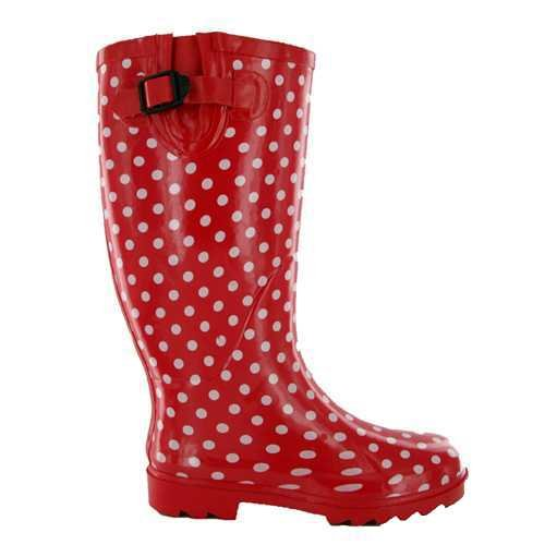 New Ladies Red Dot Wellies