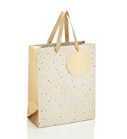 Golden Speckled Medium Gift Bag