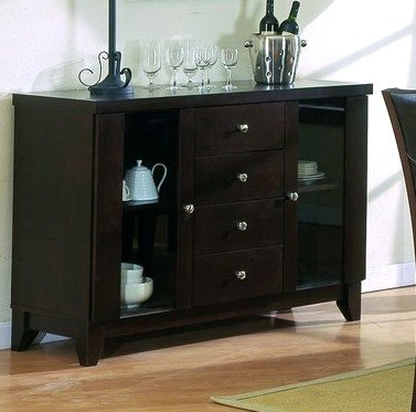 The daisy collection solid wood formal dining room server small dining table - Small dining room servers ...