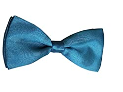 BLACKSMITHH PEACOCK BLUE BOWTIE