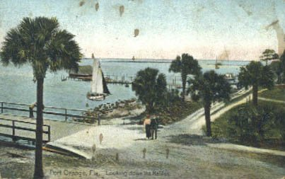 Port Orange, Florida Postcard, 1909