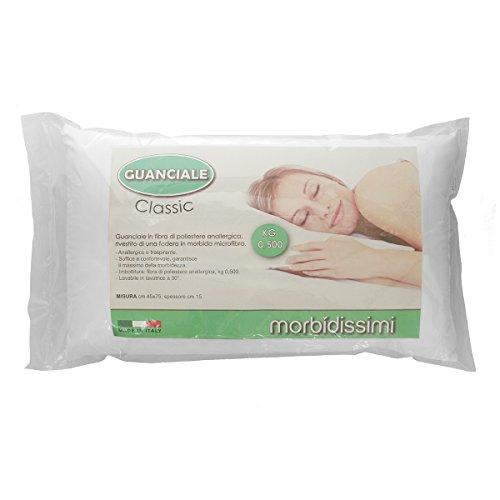 Guanciale Morbidissimi mod. Classic anallergico traspirante 45x75 cm 500 gr N597