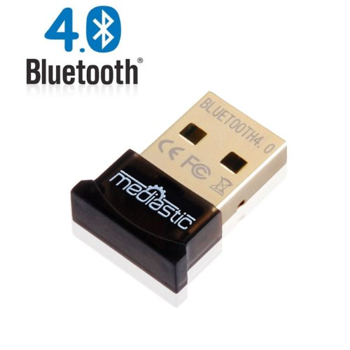 Mediastic Usb Bluetooth Adapter - Latest V4.0 Premium Mini Dongle - Class 2 Smart Ready - High Speed 3Mbps Micro Wireless Receiver - Long Range Transmitter - Low Power - Compatible With Windows 8 / Windows 7 (32 And 64Bit) / Me / 2000 / 98 / Vista / Xp Fo