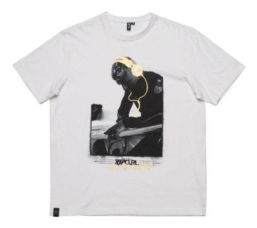 Ripcurl Listen To Mick Ss Tee Optical White Men's T-Shirt XX-Large