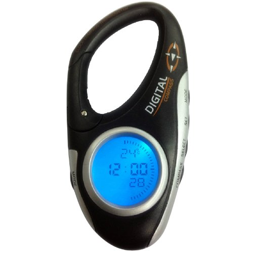 Generic Mini Travel Electronic Digital Compass Thermometer Clock