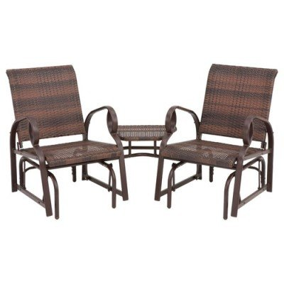 Jack Post CV-130 Charlevoix Patio T te- -T te Set, Brown Ombre Wicker - Quantity 1 picture