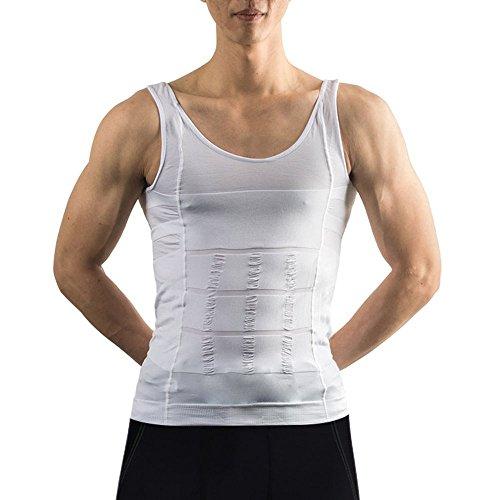Image Men's Body Shaper for Men Slimming Shirt Tummy Waist Vest lose Weight (M) (Burn Garment compare prices)